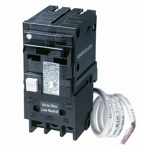 60A 2 pôle 120V Siemens de type Q DDFT disjoncteur