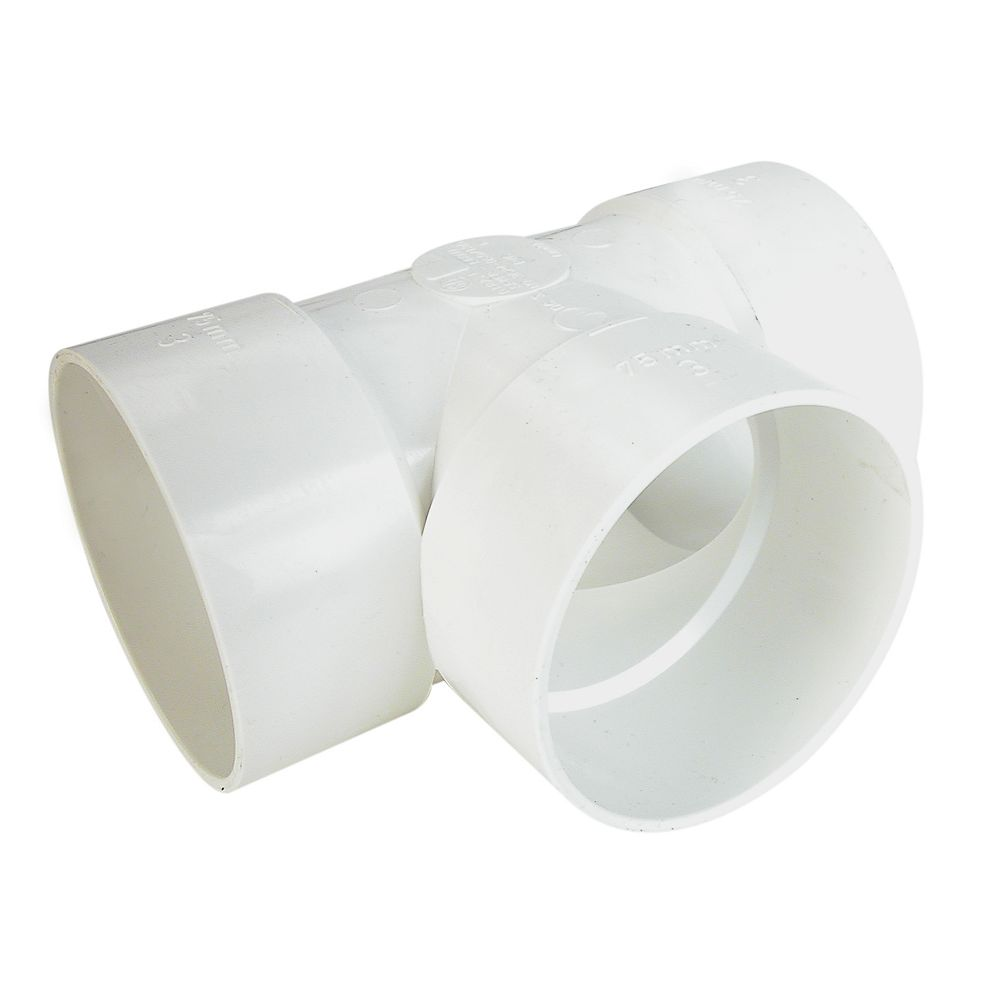 PVC-BDS Té Droit  4 pox4 pox4 po Femelle
