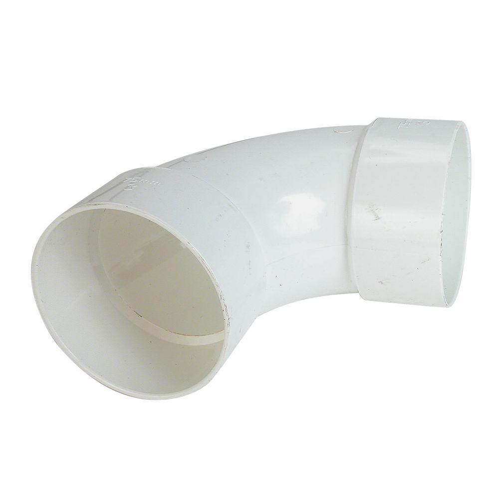 PVC-BDS 90° Coude 3 po Femelle