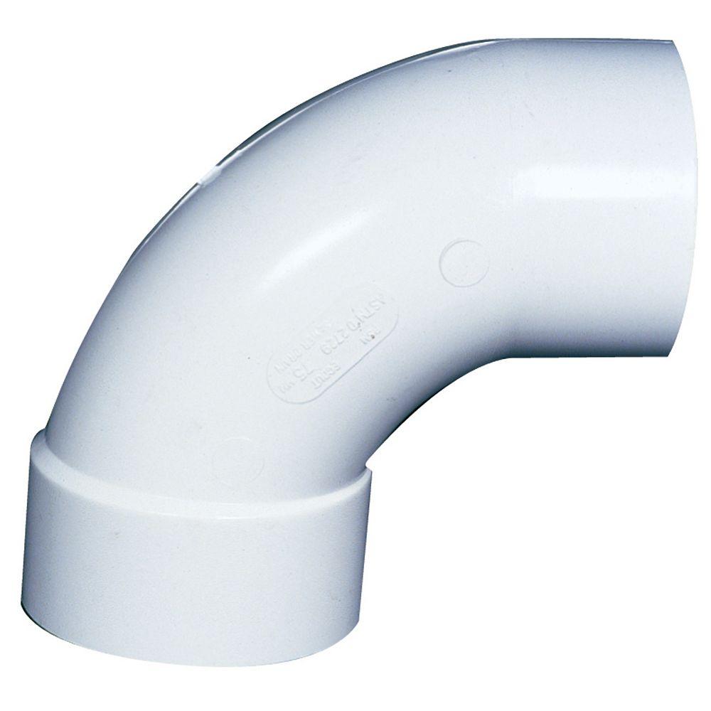PVC-BDS 90° Elbow 4 inch HxSp