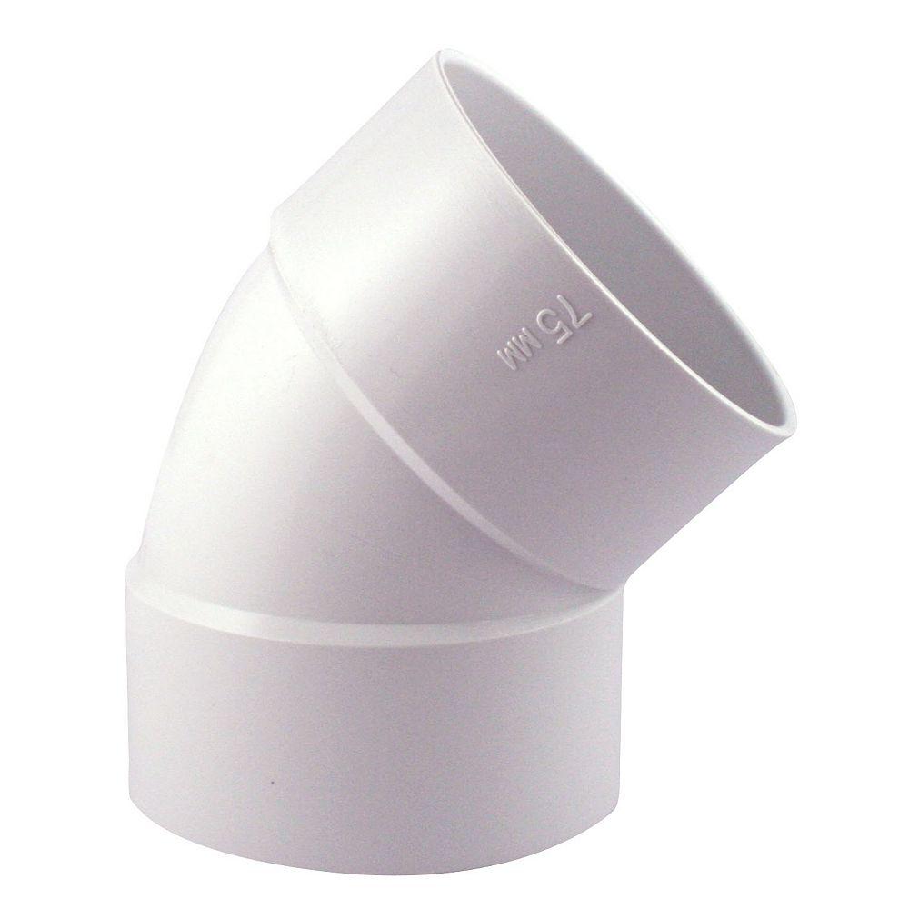 PVC-BDS 45° Coude 4 po Femelle