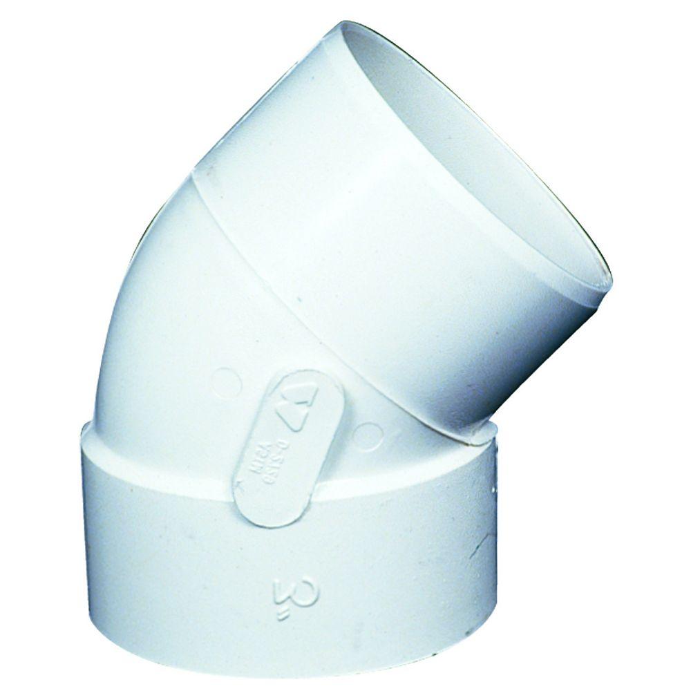 PVC-BDS 45° Coude 4 po FxM