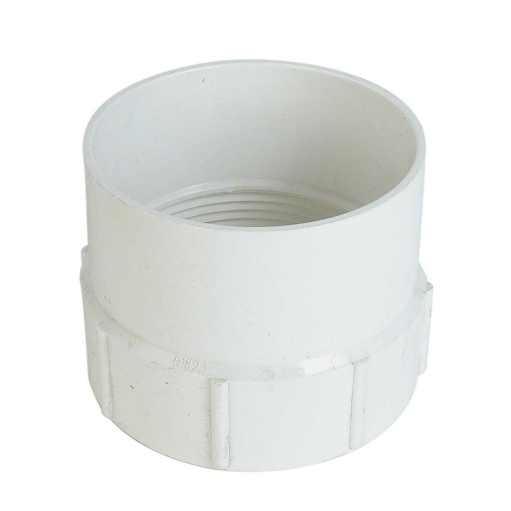 PVC-BDS Adaptateur femelle 4 po Fx m fil.