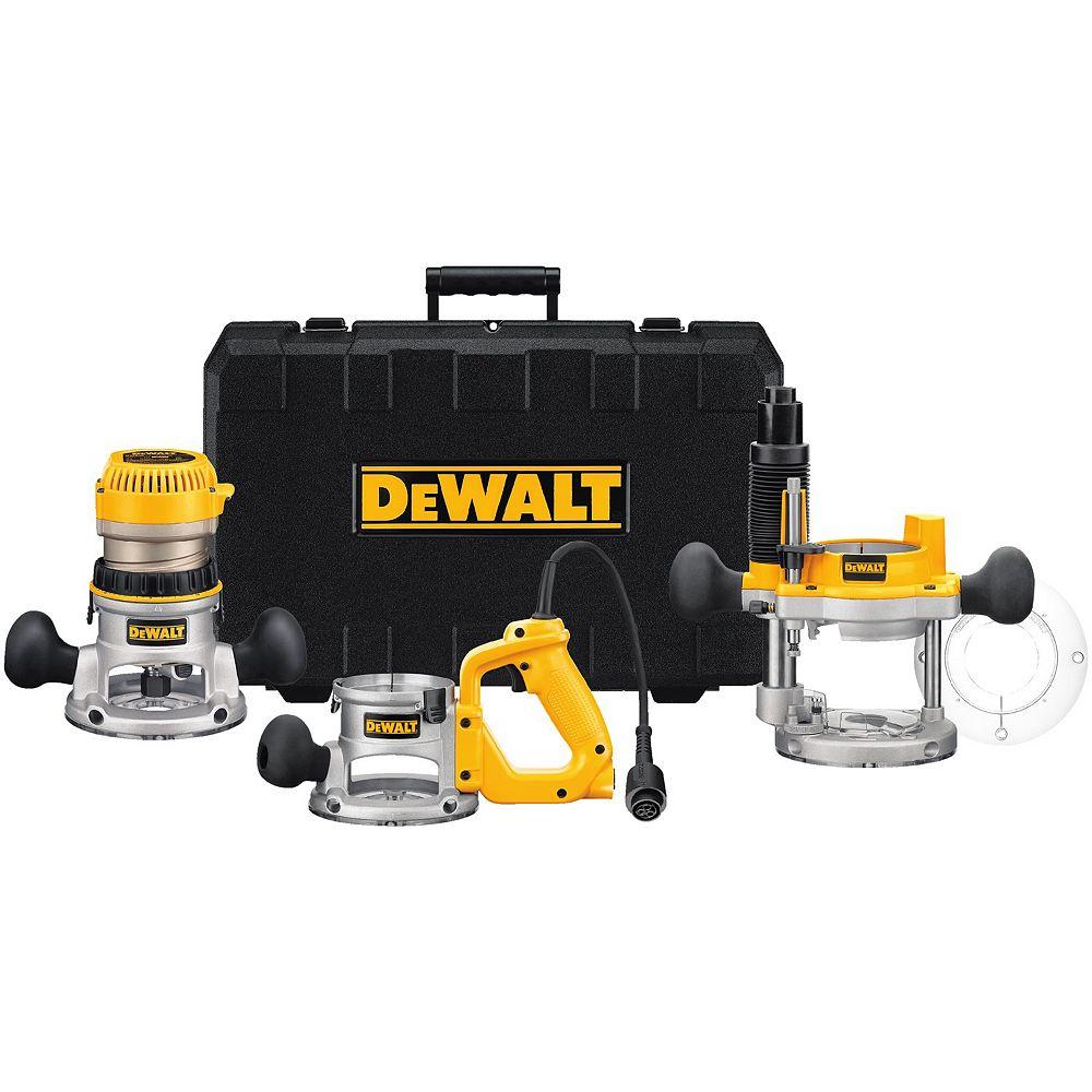DEWALT 2-1/4 Hp Three Base Router Kit