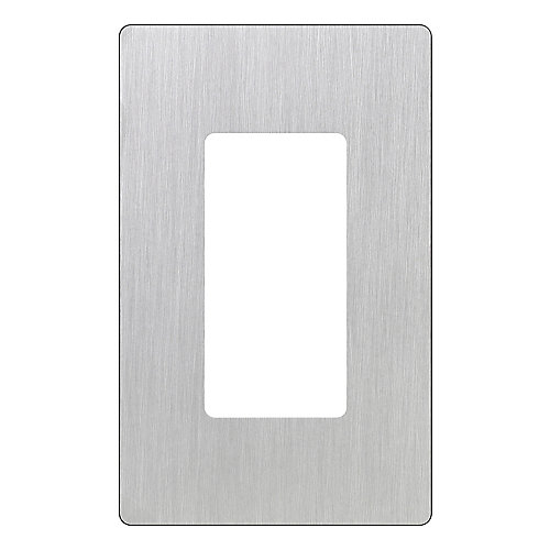 Claro 1-Gang wall plate, Stainless Steel