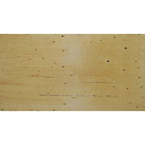 5/8 inch 4 ftx8 ft Standard Spruce Plywood Tongue & Groove