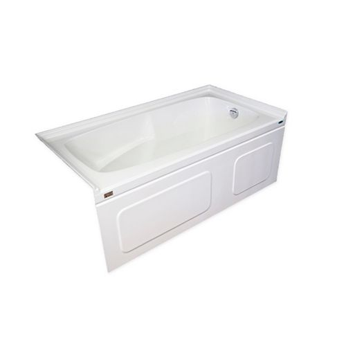 Elegance Plus 5 Feet Skirted Bathtub with Double Tiling Flange and Right-Hand Drain