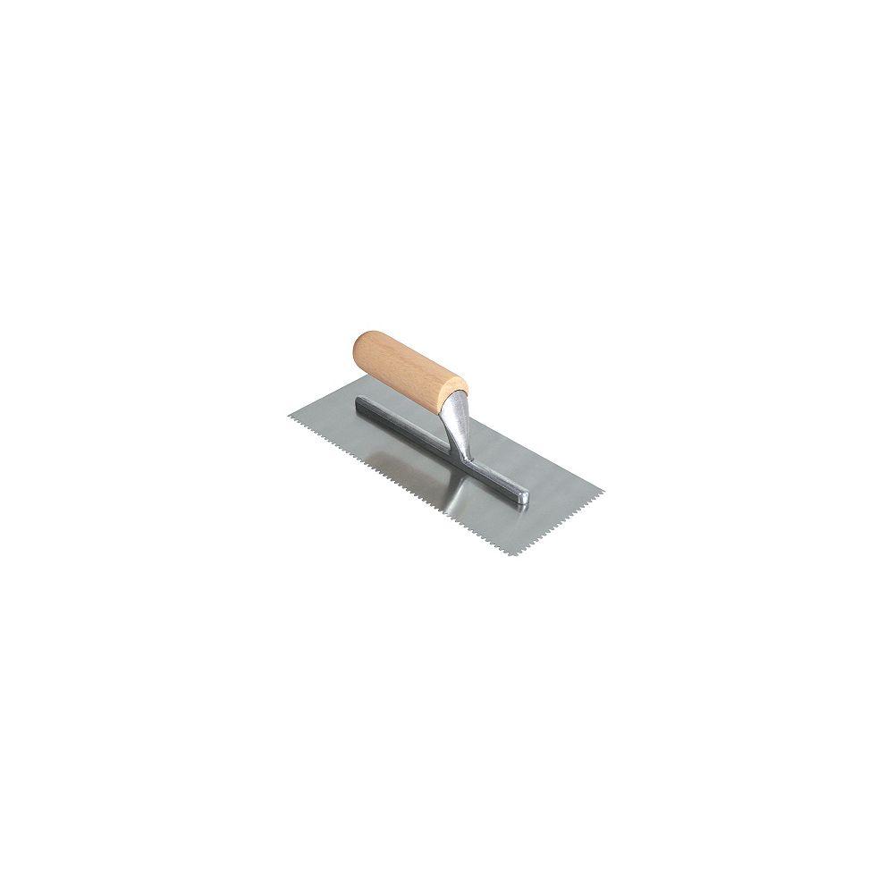 QEP Truelle pour colle à tapis Flat Top V 1/8 po x 1/8 po x 1/8 po