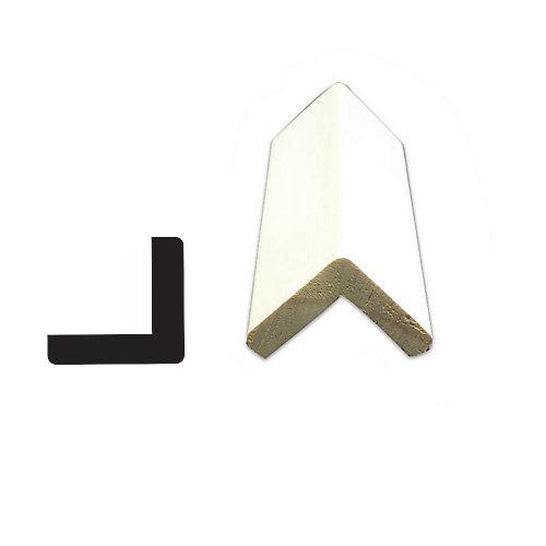 Coin extérieur jointé et apprêté, en pin - 1 1/16 x 1 1/16