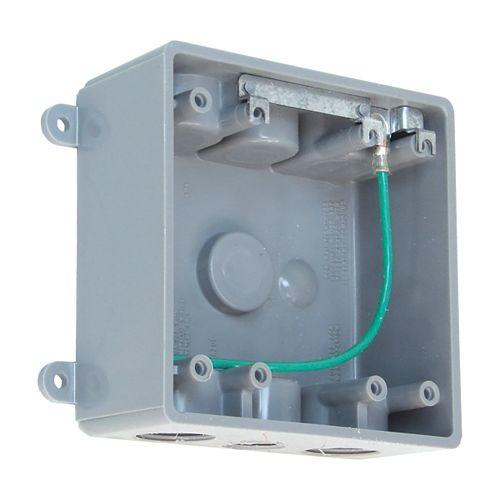 Outdoor Weatherproof PVC Double Gang Device Box  Grey