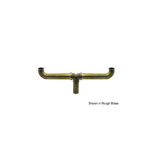 """Brass 1-1/2"""" x 16"""" Centre Outlet Continuous Waste - Slip Joint Connect"""