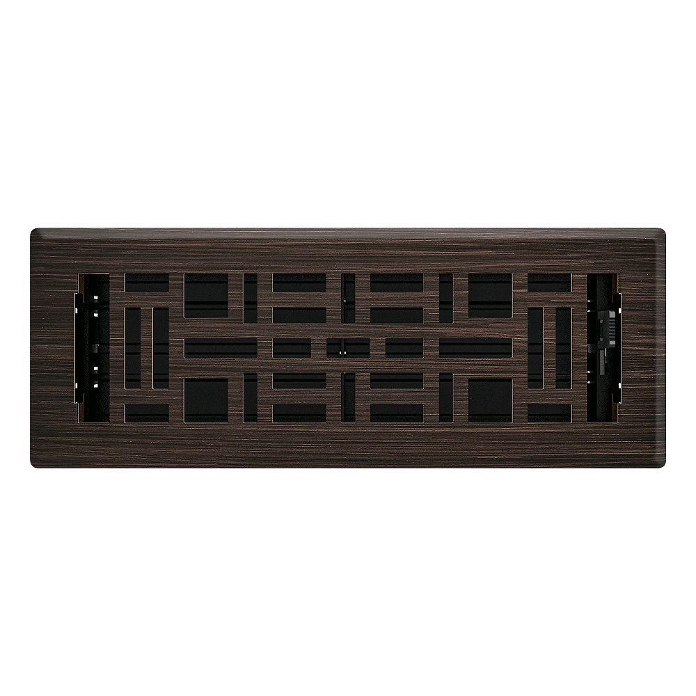 Hampton Bay 3 po x 10 po Registre de plancher métiers d'arts - Bronze huilé