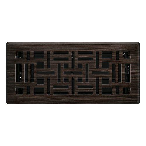 4 po x 10 po Registre de plancher métier d'arts - Bronze huilé