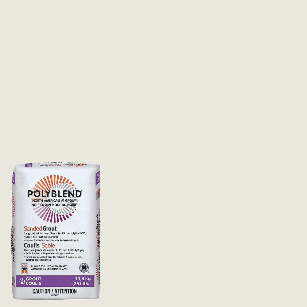 Custom Building Products #381 Bright White - Polyblend Sanded Grout - 25lb