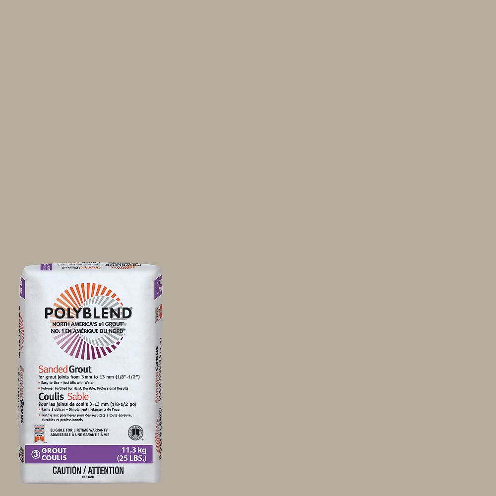 Custom Building Products #386 Oyster Gray - Polyblend Sanded Grout - 25lb
