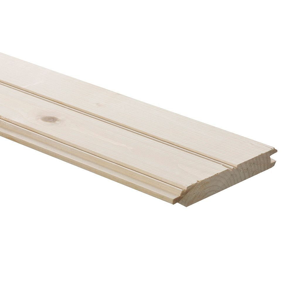 HDG 1-inch x 6-inch x 12 ft. Pine Panelling