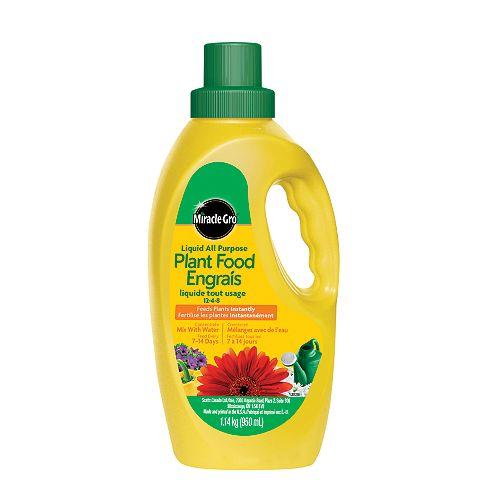 Miracle-Gro engrais liquide tout isage pour plantes 12-4-8