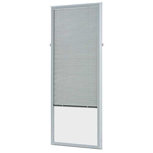 22-inch w x 64-inch h Add-On Enclosed Aluminum Blinds White Steel & Fiberglass Doors - ENERGY STAR®