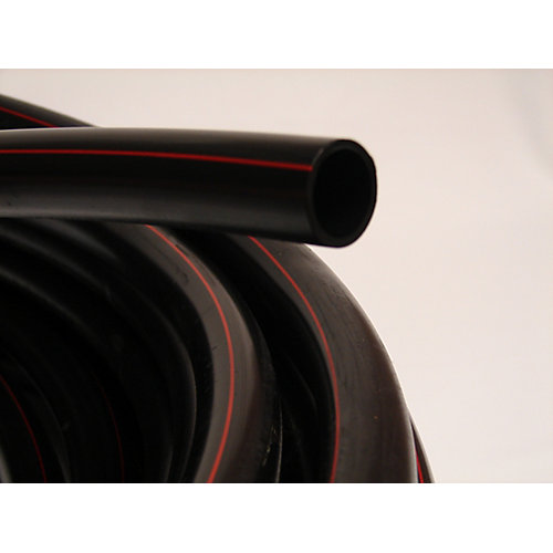 POLY PIPE 1-1/4 inches X 100 ft. 75PSI Red Stripe