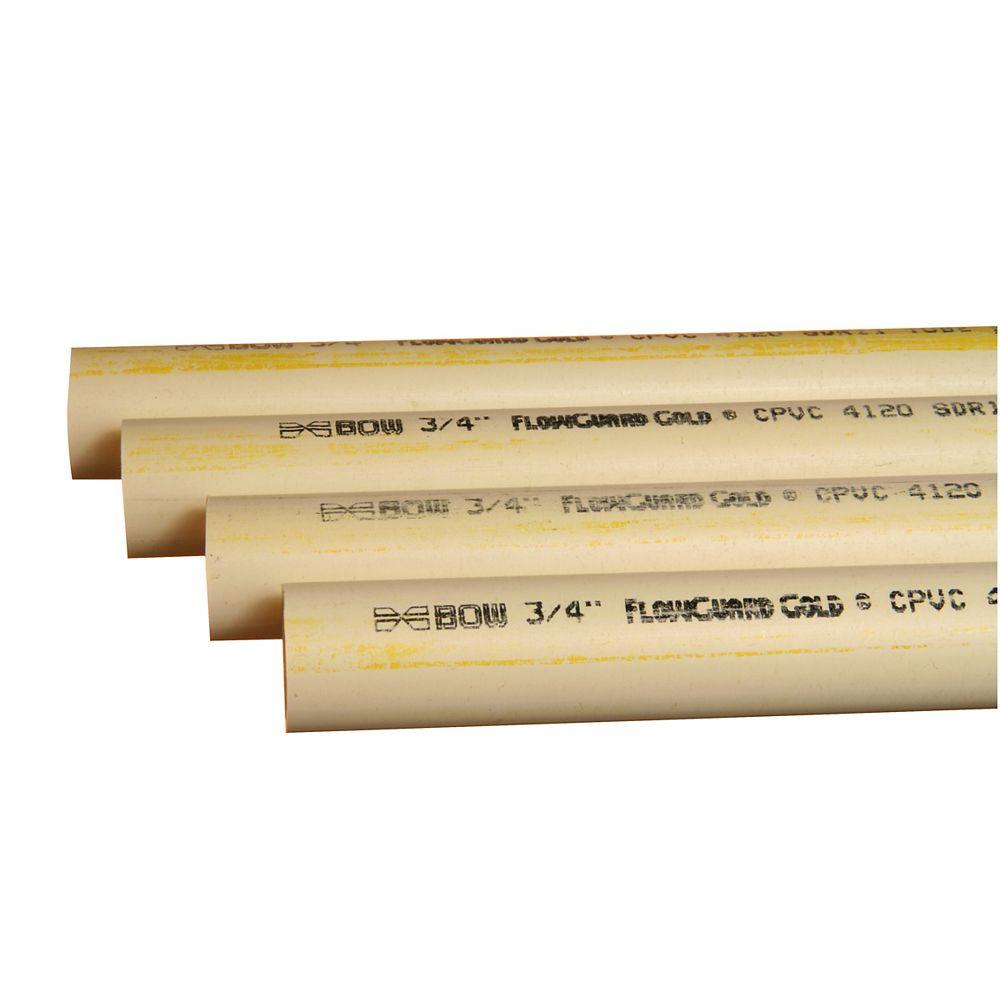 Bow Plumbing Group CPVC Pipe - 1/2 Inch x 10 Feet