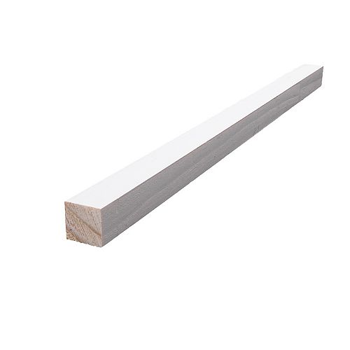 Alexandria Moulding Primed Finger Jointed Pine S4S 11/16 In. x 11/16 In. (Price per linear foot)