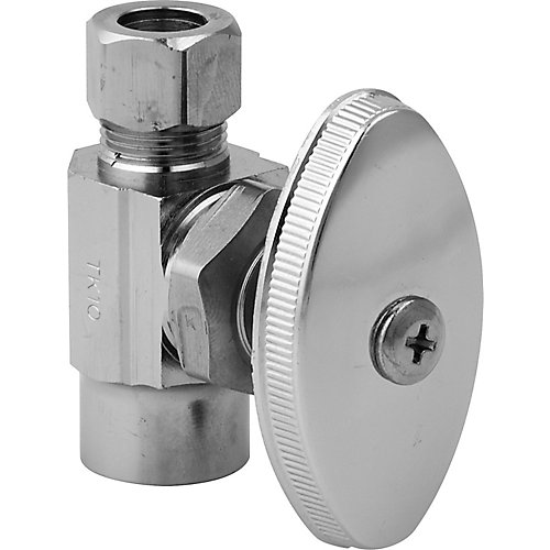 Straight Valve 1/2 Inch Nominal Sweat X 3/8 Inch Od Compression