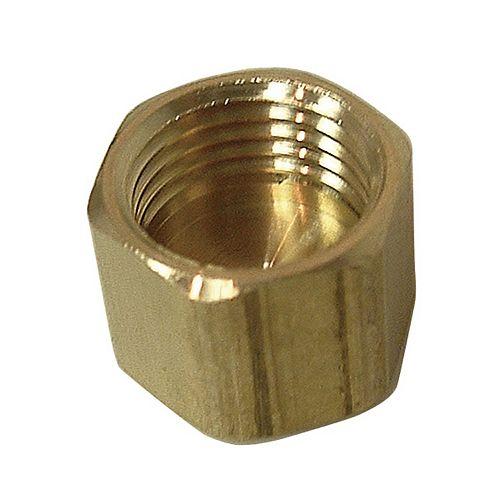 """Écrou à compression en laiton, sans insert (3/8"""")"""