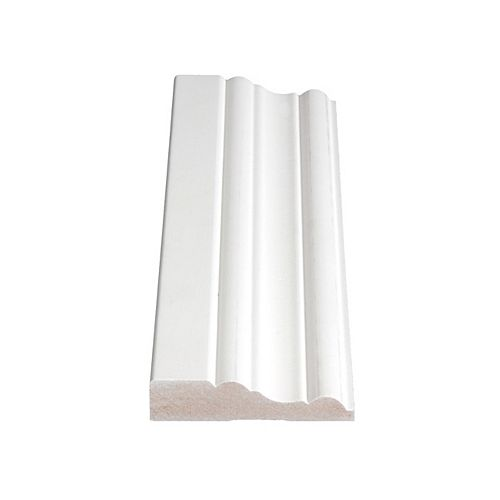 Alexandria Moulding 11/16-inch x 3-inch MDF Primed Fibreboard Casing