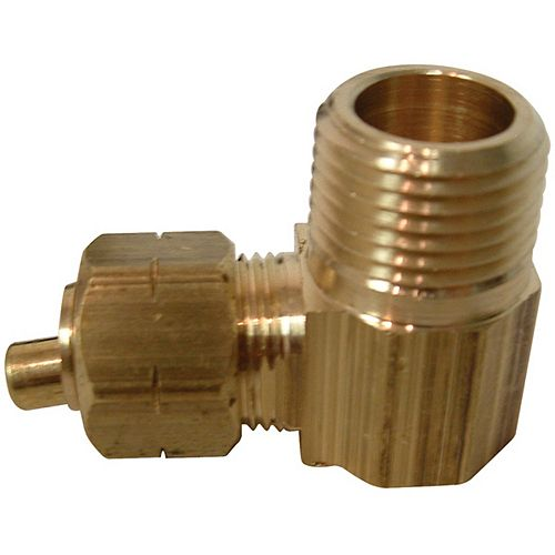 Tube to Male Pipe Elbow with Brass Insert (3/8 x 3/8)