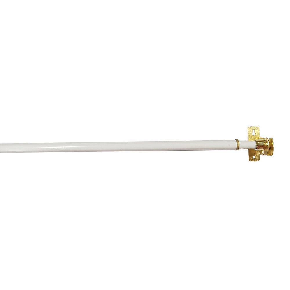 Home Decorators Collection 28-inch to 48-inch Café Curtain Rod in White
