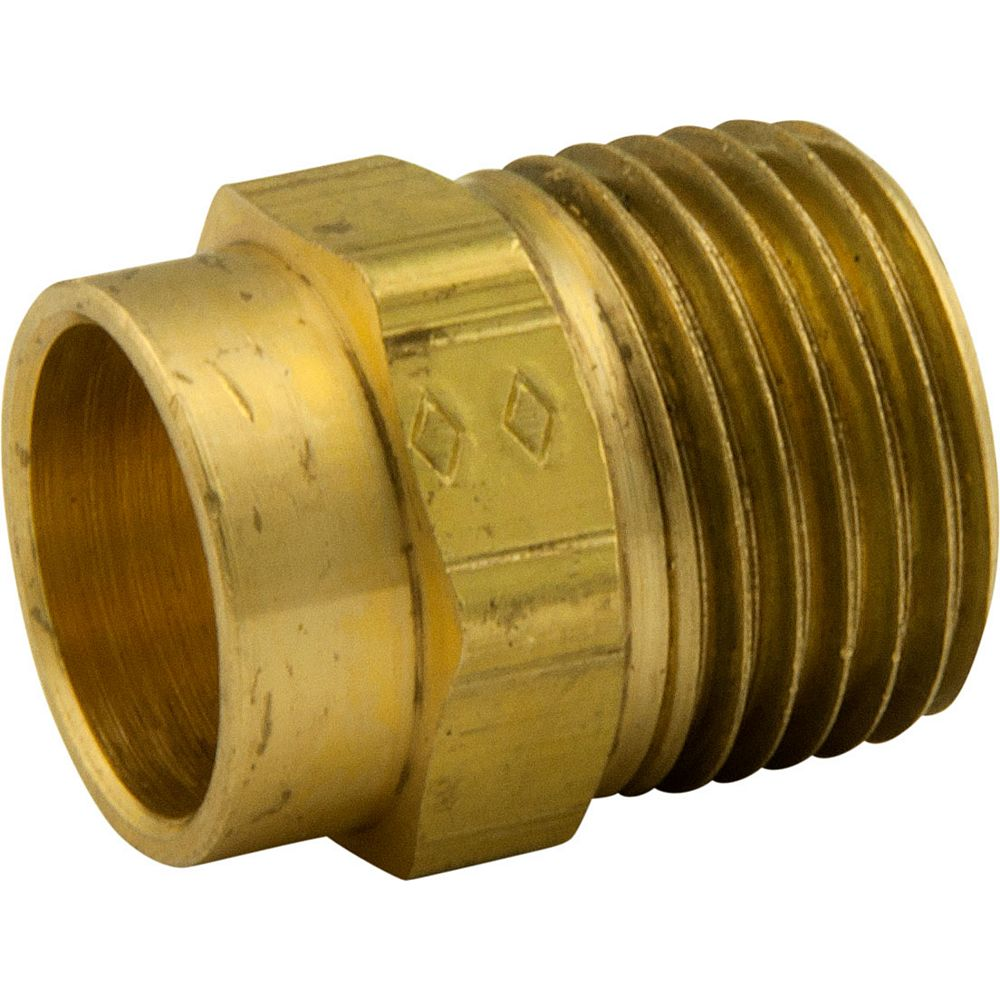 Waterline Bar Stock Adapter 1/2 Inch Nominal Sweat X 1/2 Inch Male Iron Pipe Thread