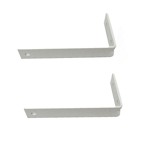4-inch I-Beam Projection Brackets in White (2-Pack)