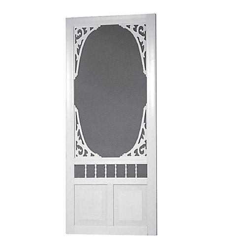 32-inch x 80-inch Georgian Solid Vinyl Screen Door