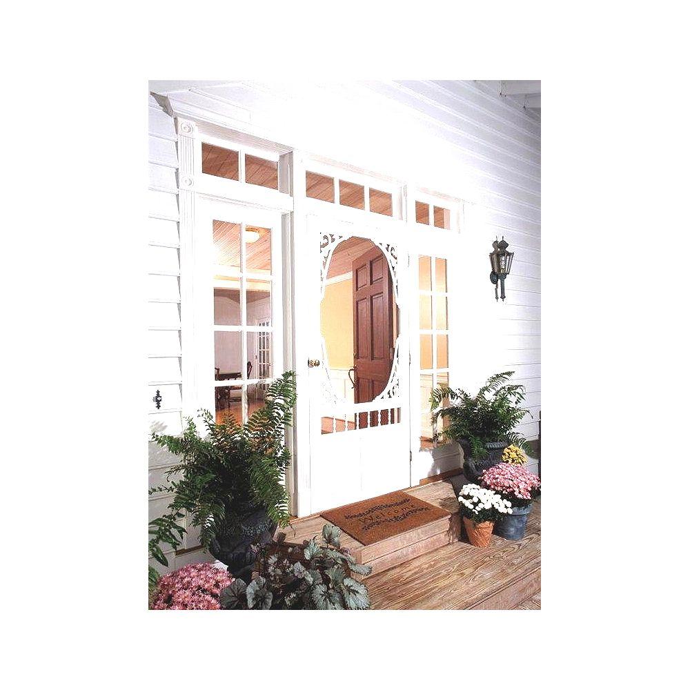 DIY 34-inch x 80-inch Georgian Solid Vinyl Screen Door