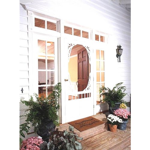 34-inch x 80-inch Georgian Solid Vinyl Screen Door