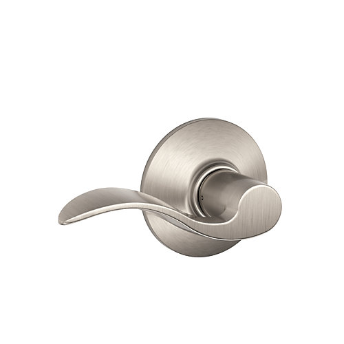 Accent Passage Lever in Satin Nickel