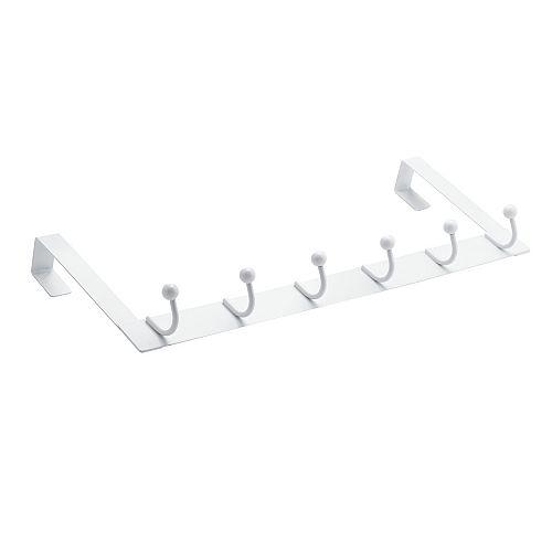 Utility Over-The-Door Hook, 6 Hooks, White