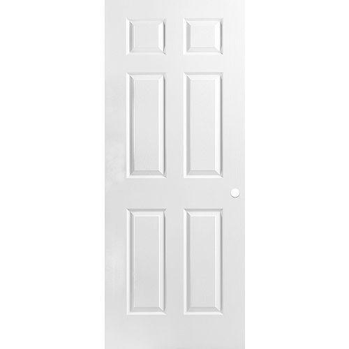 34 x 80 x 1-3/8 6 Panneau de porte pré usiné