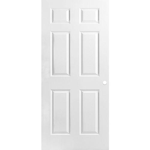 36 x 80 x 1-3/8 6 Panel Pre-Machined Door