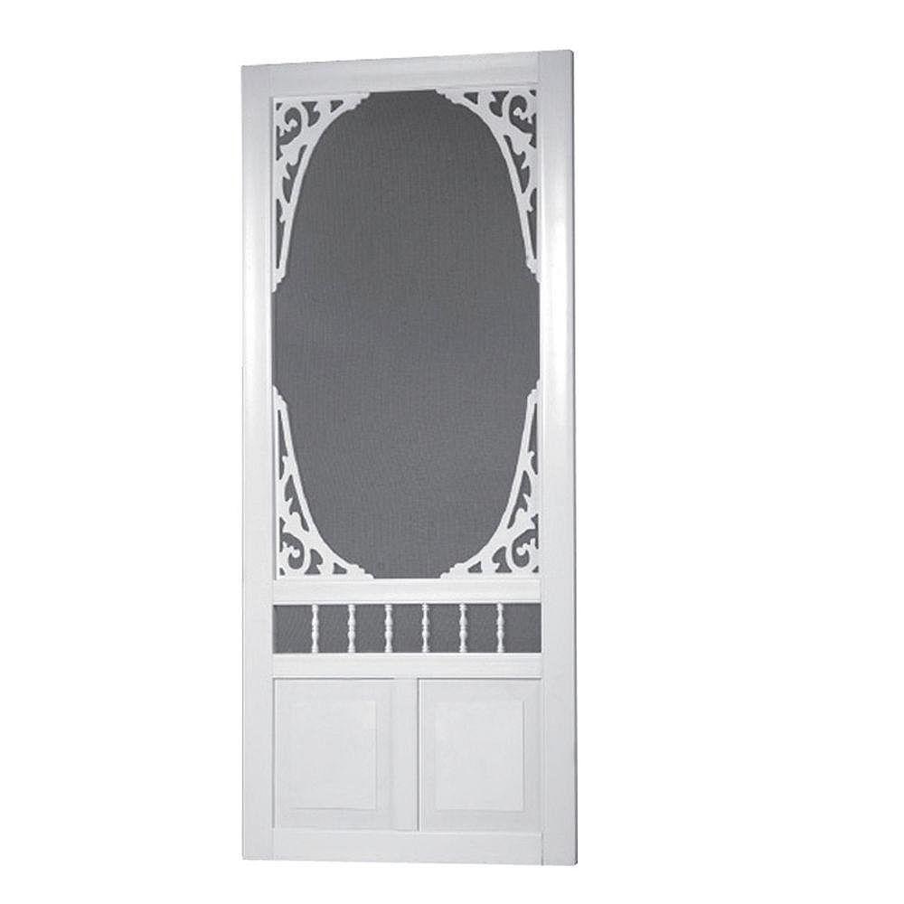 DIY 36-inch x 80-inch Georgian Solid Vinyl Screen Door