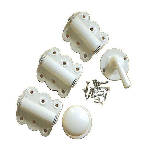 Quincaillerie de porte moustiquaire - Blanc