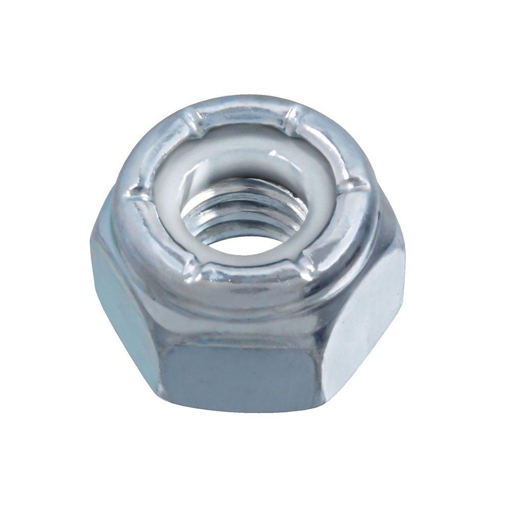 Paulin Écrou d'arrêt à insertion en nylon 1/4-20 pouces - Pozi-Lok - Plaqué zinc - Grade 5 - UNC
