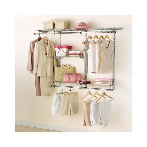 3 ft. to 6 ft. W Customizable Closet Organization Kit