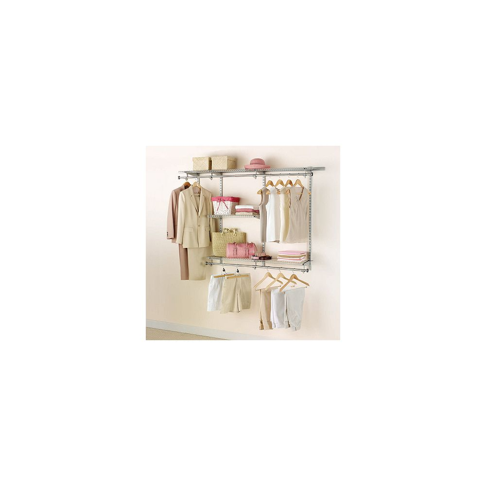 Rubbermaid 3 ft. to 6 ft. W Customizable Closet Organization Kit