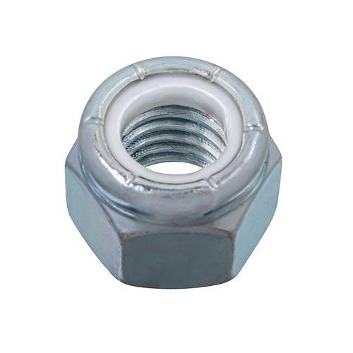 Paulin Ecrou d'arrêt en nylon 1/2-inch-13 - Pozi-Lok - Plaqué zinc - UNC