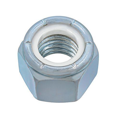 Écrou d'arrêt en nylon de 5/8 pouce-11 - Pozi-Lok - Plaqué zinc - UNC