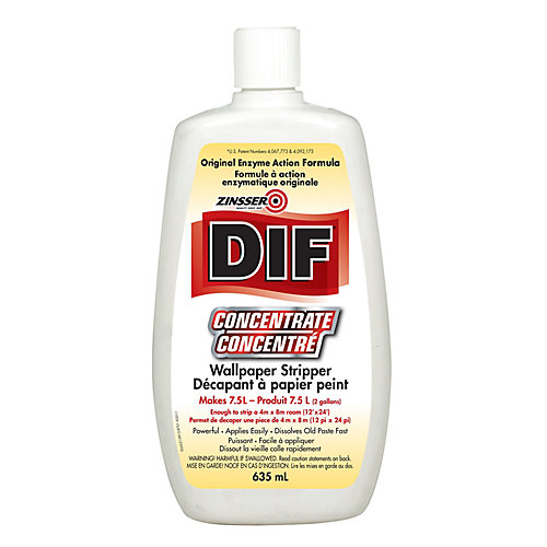DIF Concentrate Wallpaper Stripper, 635 mL  (makes 7.5L - enough for a 12 ft. x 24 ft. room)
