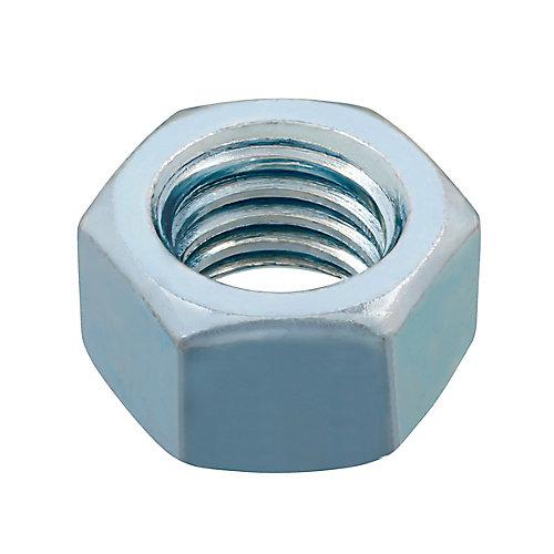 Écrou hexagonal 1/2 po - 13 fini - plaqué zinc - Grade 2 - UNC