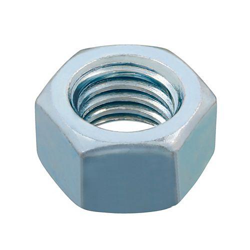 """Écrou hexagonal fini 1/2-13"""" - Plaqué zinc - Grade 2 - UNC"""
