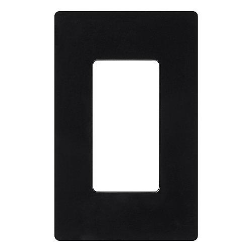 Claro 1-Gang wall plate, Black